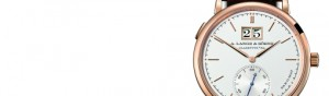 Ultra-thin Replica A. Lange & Sohne Saxonia Automatic Outsize Date Rose Gold Watch